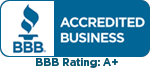Better Business Bureau Logo - Accredited Business BBB A+ Rating