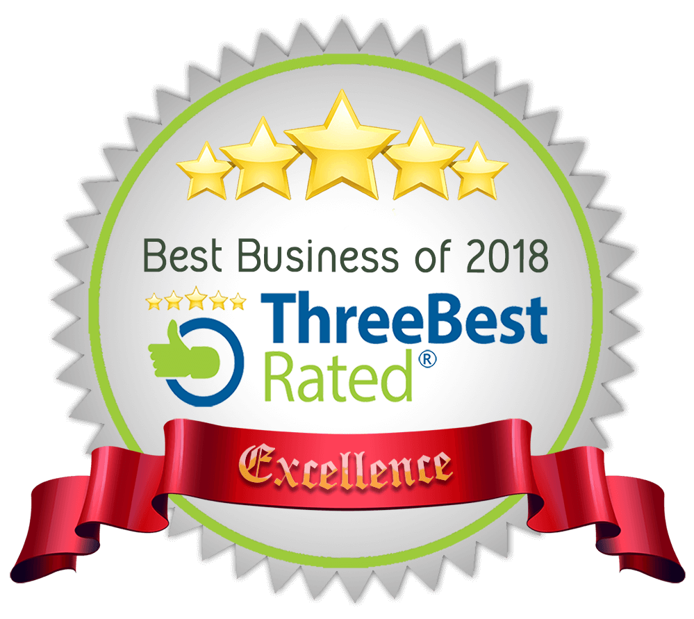 Best Business of 2018 - Three Best Rated Award