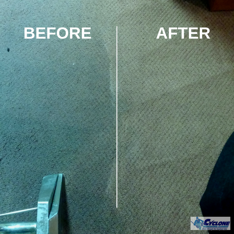 Cyclone Professional Cleaners Carpet Cleaning Before and After Photo