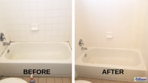Tile and grout cleaning before and after - Cyclone Professional Cleaners