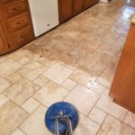 A tiled kitchen floor we cleaned on 3/12/17