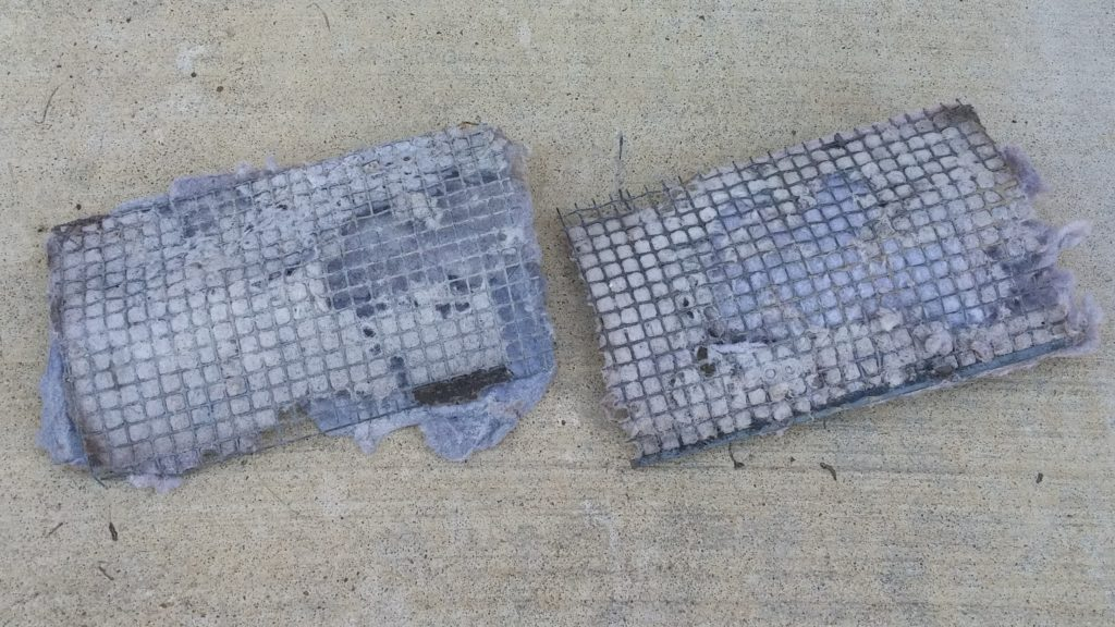 Dryer vent grates covered with lint - Cyclone Professional Cleaners