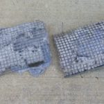 2 dryer vent filters before we cleaned them