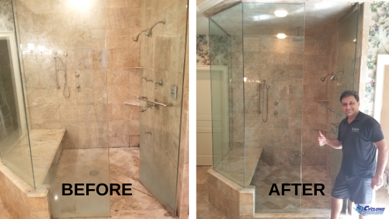 Tile and grout cleaning before and after - Dallas TX