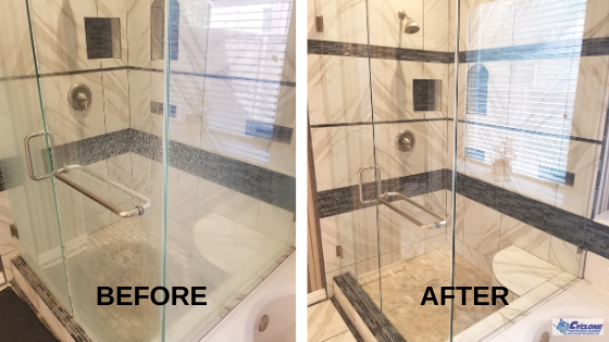 Tile and grout cleaning before and after - Parker TX