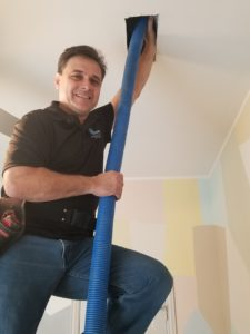 Cyclone professional cleaning an air duct in Plano Texas