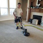 Rotovac carpet cleaning in McKinney Texas on 8/15/2020