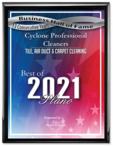 2017 Best of Plano Cleaning Award
