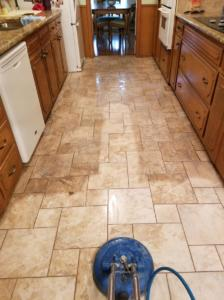 clean kitchen tile grout